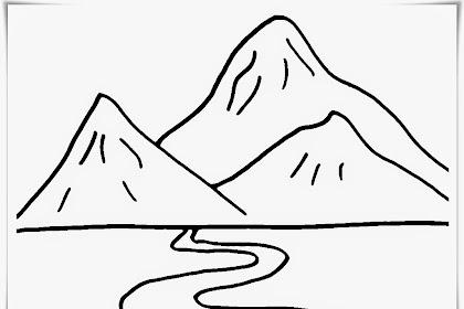 Gambar Gunung Mewarnai