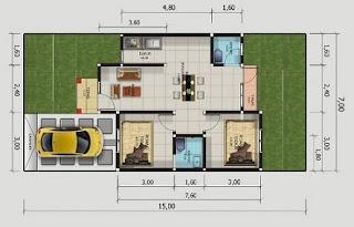 rumah minimalis tipa 54