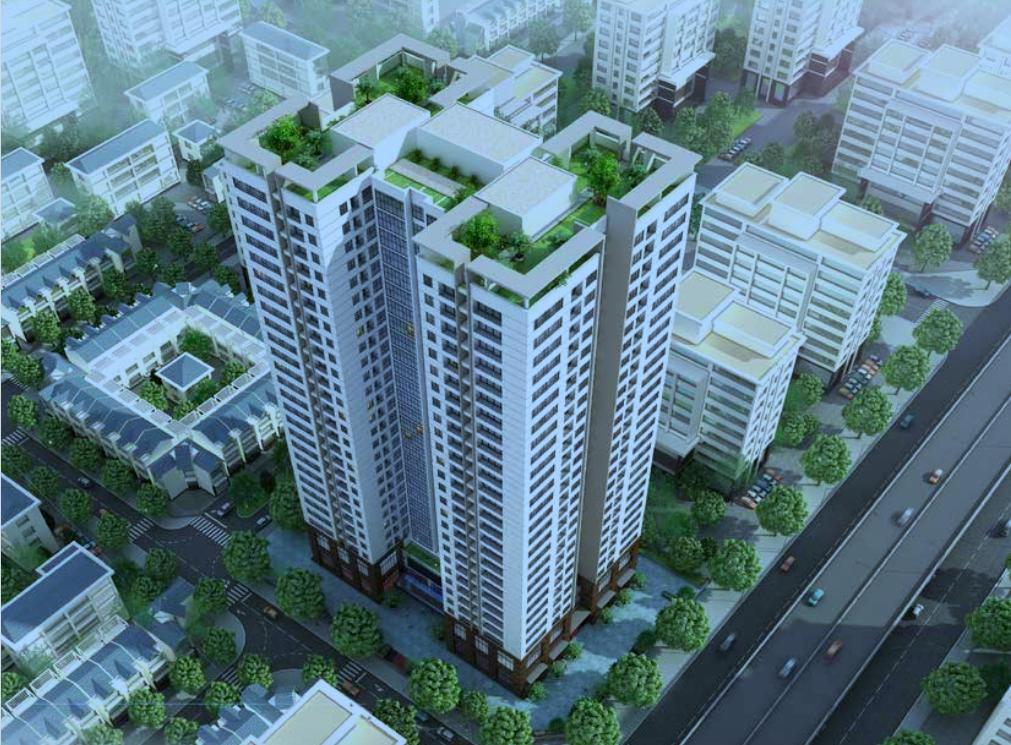 Phối cảnh chung cư Housinco Grand Tower Nguyễn xiển