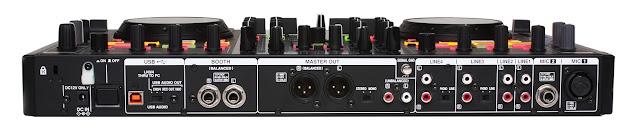 Gambar Denon DJ MC6000MK2 bagian belakang