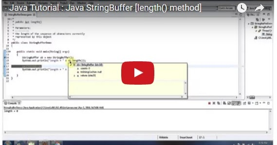 Java ee java tutorial java stringbuffer length method for Object pool design pattern java