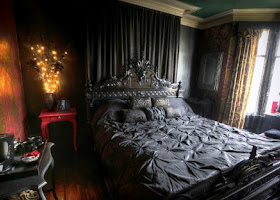 Black Victorian Bedroom Furniture Elegant Gothic Clic Design Ideas With Antique Table Lamp Unique Wall Painting Color Curtain Exotic Dark Rustic