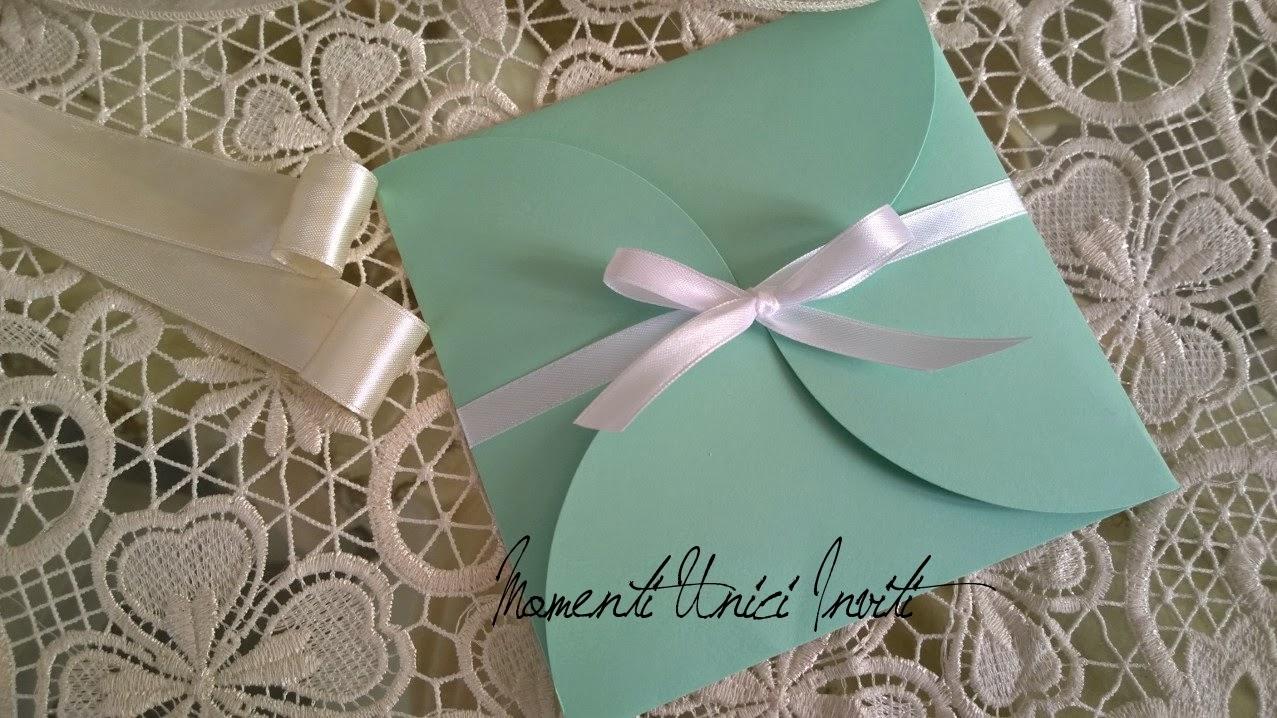 """petalo La Partecipazione """"Petalo"""" in verde acqua per Mara e DiegoColore Tiffany Colore Verde Acqua"""