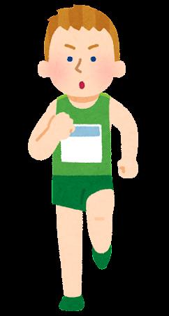 マラソン選手のイラスト(白人男性)