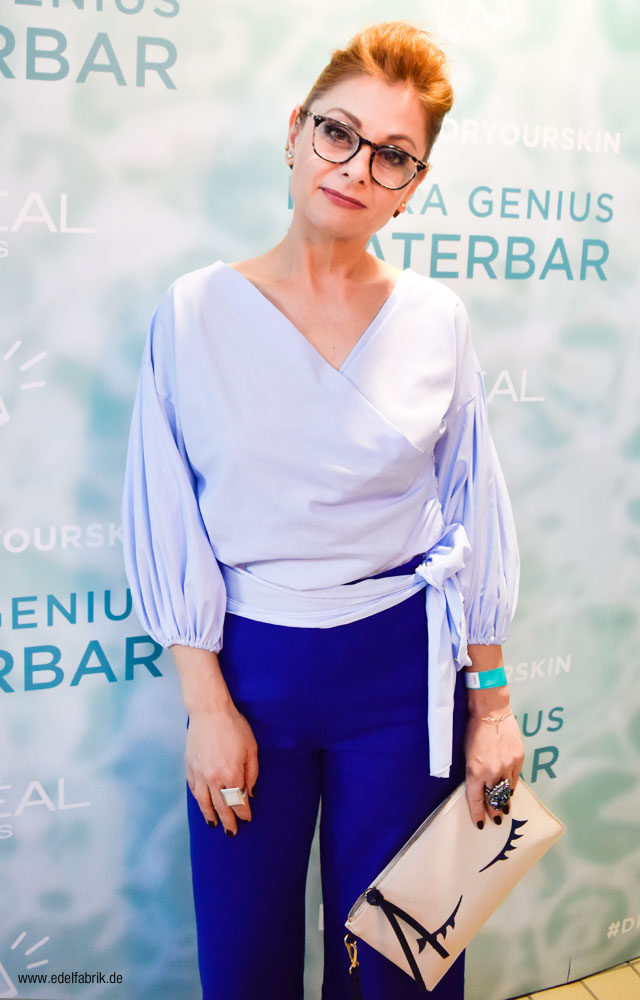Chrissie aus der Edelfabrik beim L'Oréal Hydra Genius Launch Event in Berlin