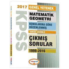 Yediiklim KPSS Matematik Geometri Konularına Göre Düzenlenmiş Tamamı Çözümlü Çıkmış Sorular Kitabı (2017)