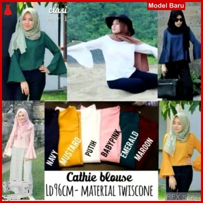 RFX034 MODEL CATHIE BLOUSE HALUS FIT SIZE L BMG SHOP MURAH ONLINE