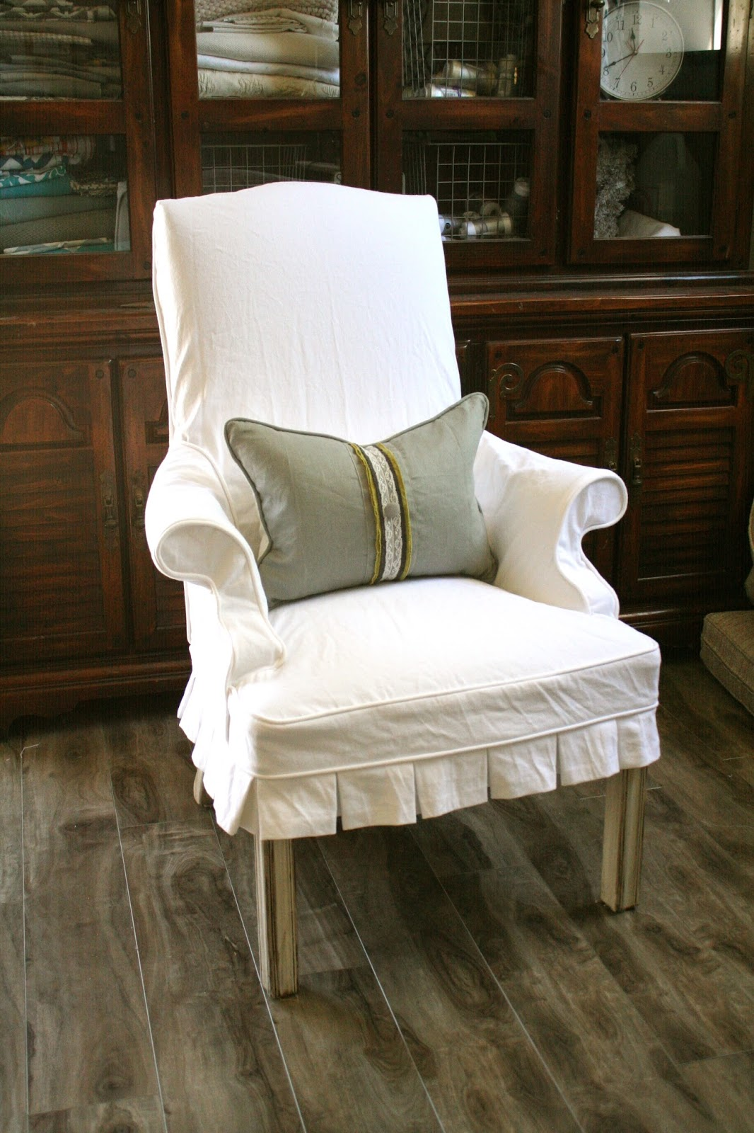Custom Slipcovers by Shelley Occasional Chair