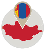 Mongolian flag and map
