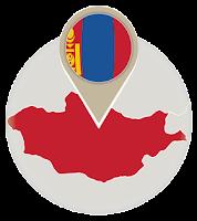 Mongolian flag and map