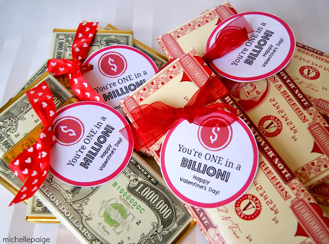 Million Billion Candy printables for valentines