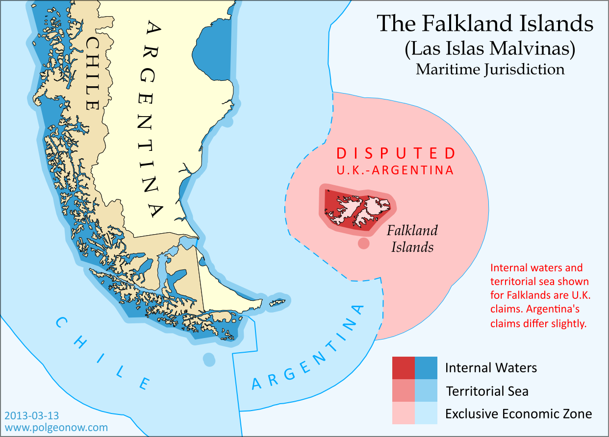 Map The Falkland Islands Disputed Seas Political Geography Now