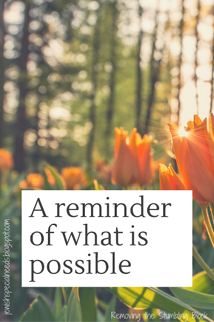 Reminder of what is possible; Removing the Stumbling Block