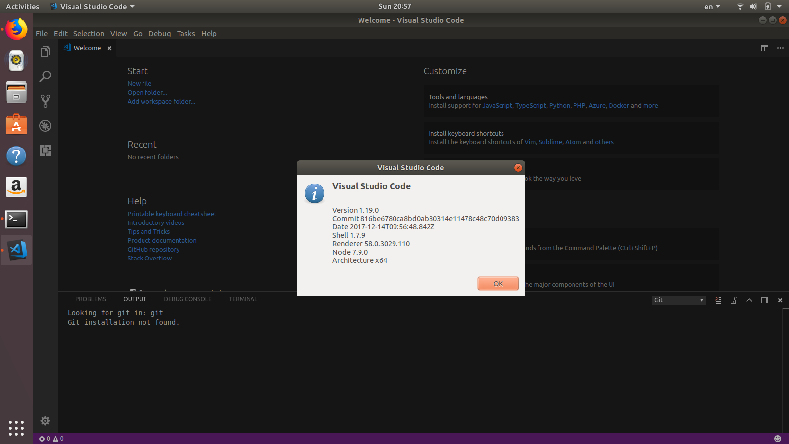 How to install Visual Studio Code 1 19 on Ubuntu 17 04