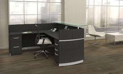 Charcoal Gray Napoli Reception Desk
