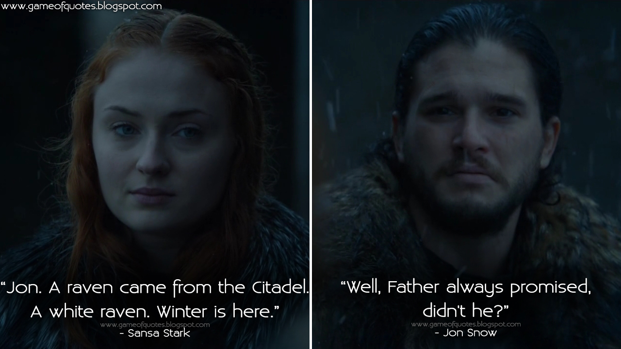 Juego de Tronos - Página 30 Jon.-A-raven-came-from-the-Citadel.-A-white-raven.-Winter-is-here.
