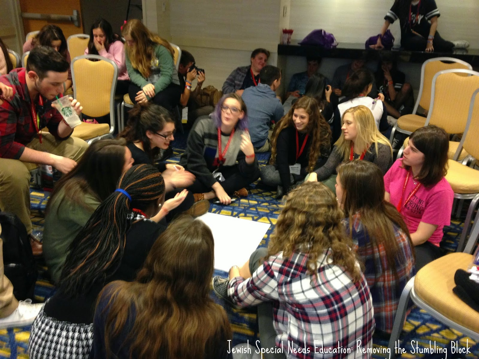 NFTY teens studying disability inclusion, Removing the Stumbling Block