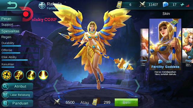Hero Rafaela ( Kesuburan Dewi ) High AP Build Set up Gear