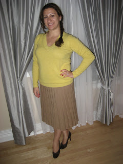 de575eb561 I paired merino with cashmere =) Wearing a v-neck cashmere Jcrew sweater in  Heather citrus.