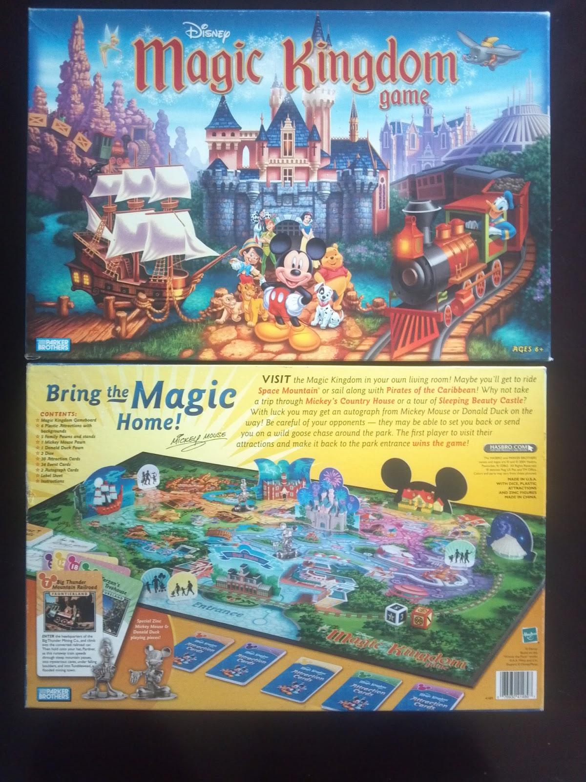Disney Magic Kingdom Game A Board Game A Day