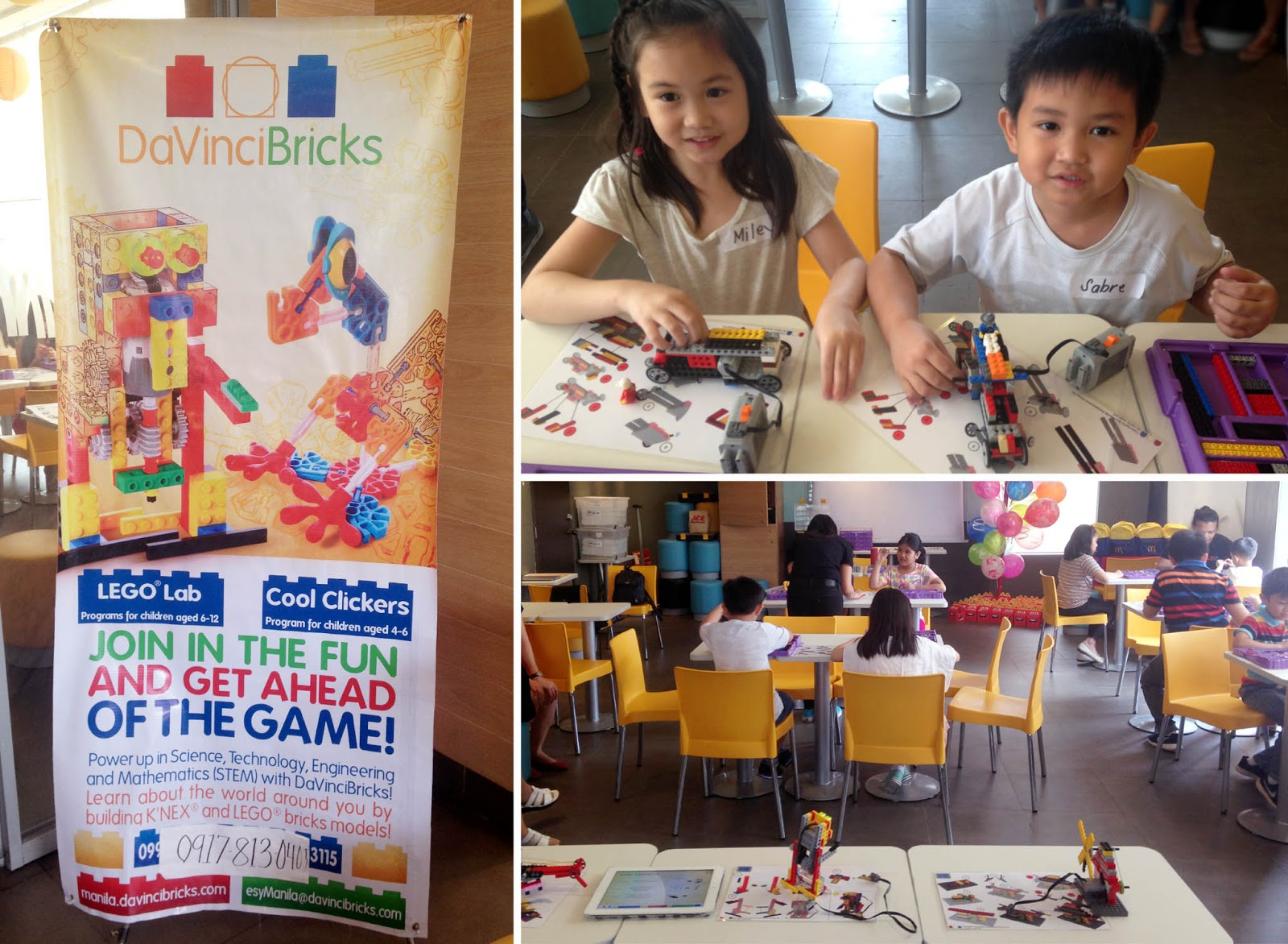 af63c691a37 ... a treat for them to go to a DaVinciBricks LEGO Lab last July 16. It was  held at McDonald s here in BF Homes so it was double the fun for them too.