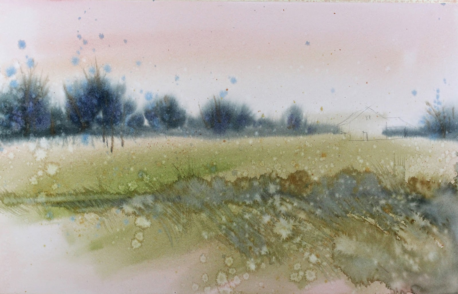 Arthouse Studio School Watercolor Demo Class Landscape