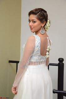 Anu Emmanuel in a Transparent White Choli Cream Ghagra Stunning Pics 121.JPG