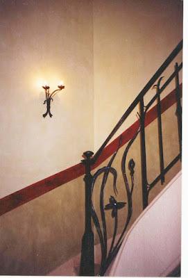 soubassement, escalier, Nîmes