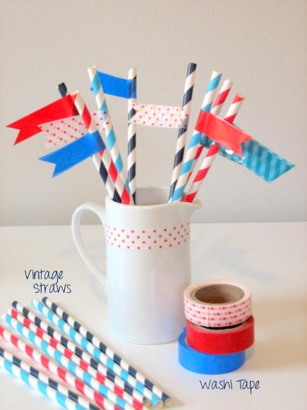 Washi Tape Straws