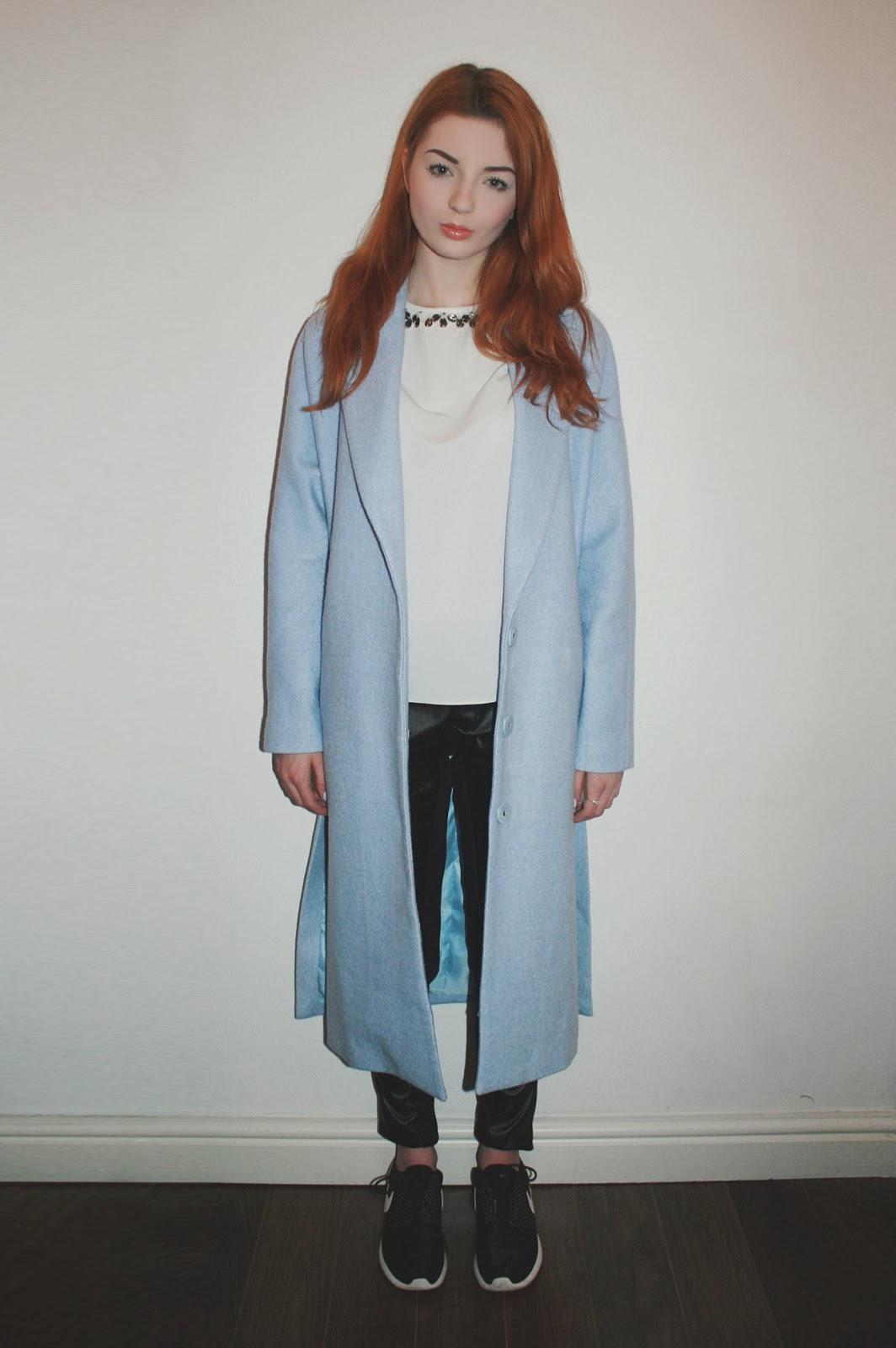 Baby Blue Coat Archives Hannah Louise Fashion