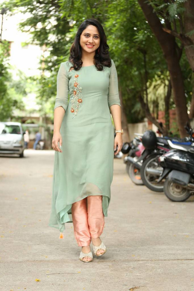 Miya George In Green Dress