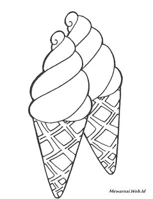 Mewarnai Sketsa Gambar Ice Cream Atau Es Krim Dunia Mewarnai