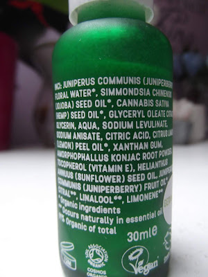 Rawgaia Organické Sérum s Konopím  zloženie