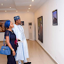 Zahra Buhari and her husband Ahmed Indimi at her sister, Hanan's photo exhibition in Abuja (Photos)