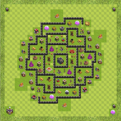 War Base Town Hall Level 9 By MagicPvPs (IMPROVED TH 9 Layout)