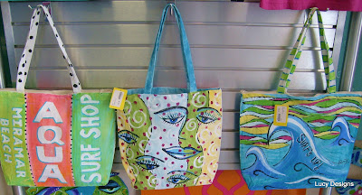 hand painted beach bags