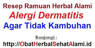 Resep Obat herbal alami tradisonal penyembuh alergi dermatitis agar tidak kambuh lagi- 100 % alami
