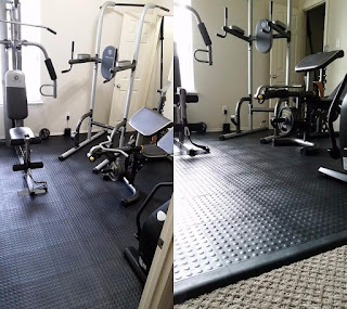 Greatmats Staylock Bump Top Tiles under exercise equipment