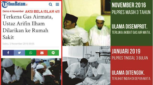 Ustadz Arifin Ilham Dijenguk Jokowi, Netizen Ingat saat Dulu Beliau Ditembaki Gas Air Mata