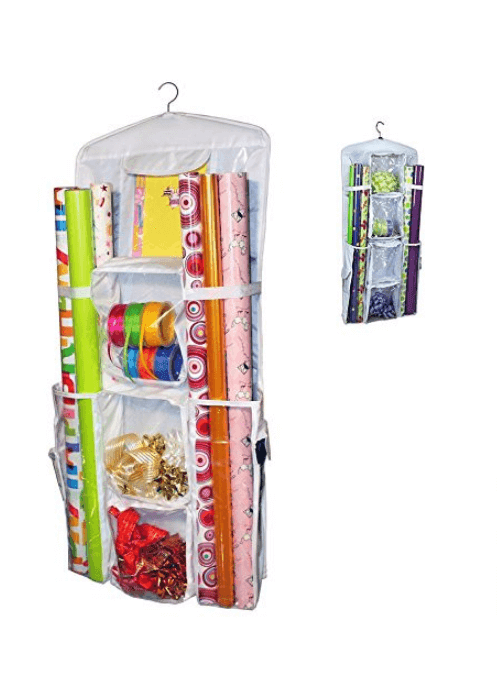 36 Genius Yet Inexpensive Products That Can Save Lives - Keep Your Storage Closet Clean Too With This Double-Sided Wrapping Paper Organizer