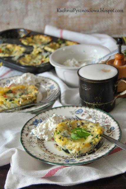 508. Muffiny jajeczne ze szpinakiem na śniadanie