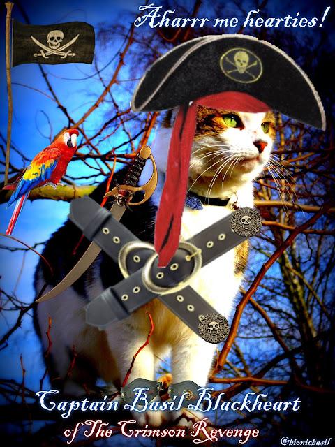 Captain Basil Blackheart and The Crew of The Crimson Revenge Sail Again ©BionicBasil®