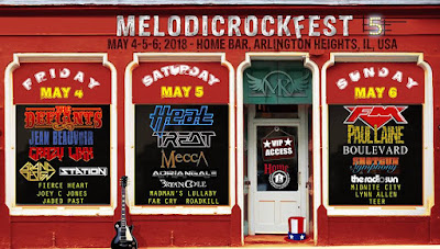 FM at MelodicRock Fest - Home Bar Chicago - 6 May 2018 - poster