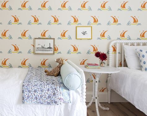 Sailboat Wallpaper for a Childrens Bedroom