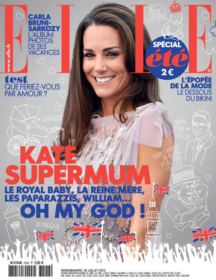 Kate Middleton On Cover Magazine Photoshoot For Elle