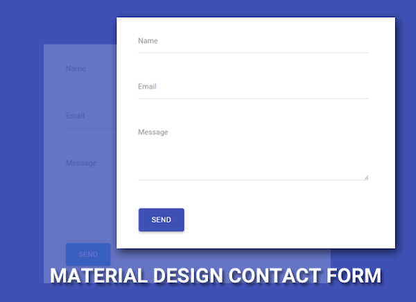 Cara Membuat Material Design Contact Form di Blog