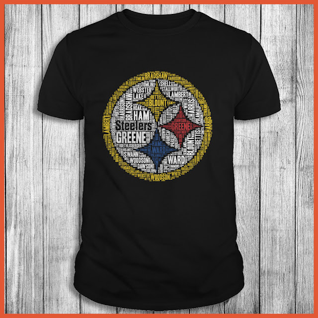 Pittsburgh Steelers Cloudtext T-Shirt