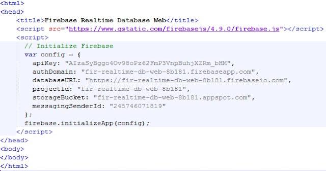 initialize firebase Javascript SDK