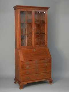 Chippendale Secretary Desk and Bookcase