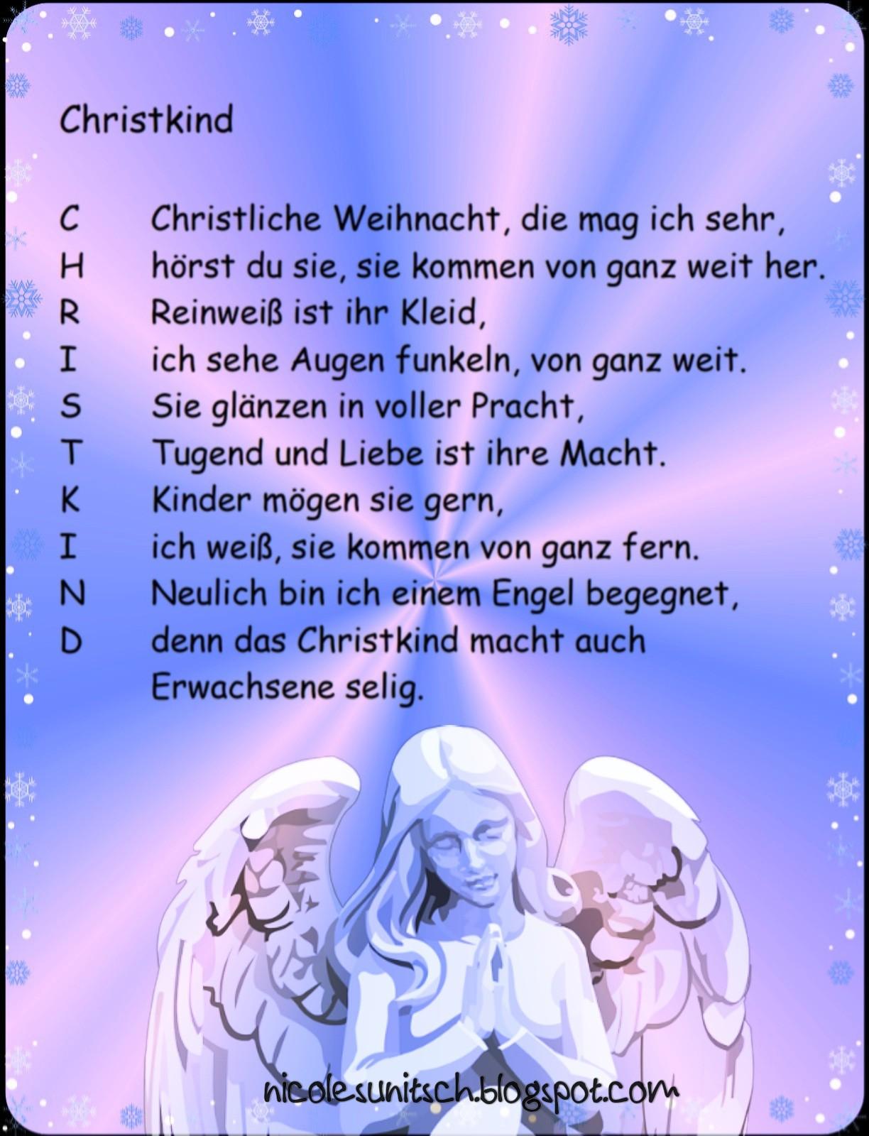 Gedichte Von Nicole Sunitsch Autorin Christkind
